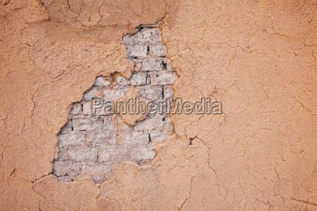 usa new mexico taos adobe wall