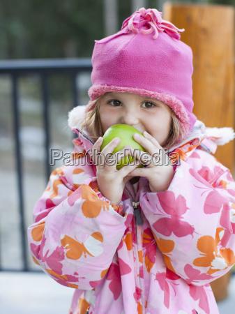girl 4 5 wearing warm clothing