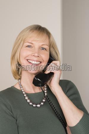 portrait of businesswoman talking on phone
