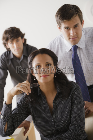 portrait of business people in office