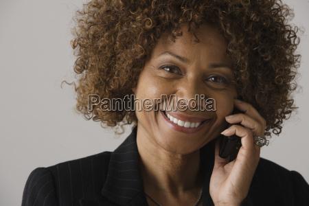 portrait of mature businesswoman studio shot