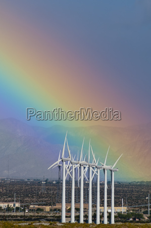usa california palm springs rainbow over