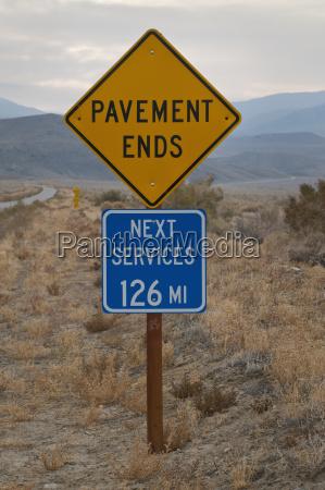 usa california services road sign