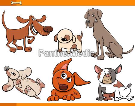 lustige comic hundezeichen sammlung