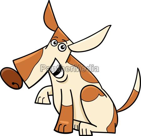 lustige komische zeichentrickfigur des komischen hundes