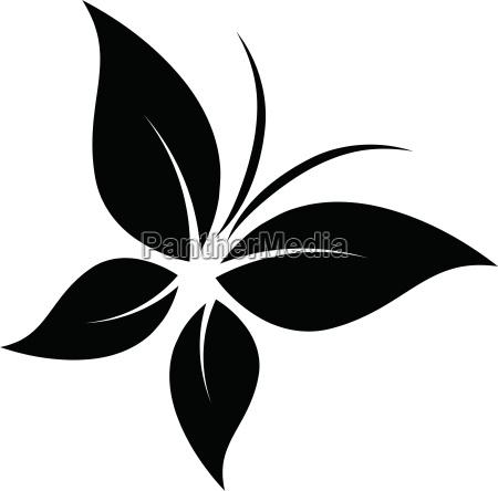 schmetterling logo vier blaetter aufkleber label