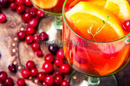 refreshing sangria drink