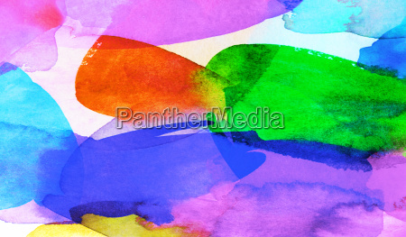 watercolor colorful summer colors banner