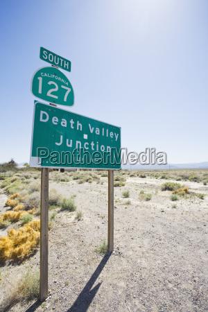 usa california road sign in desert