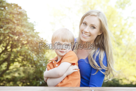 portrait of mother and son 2