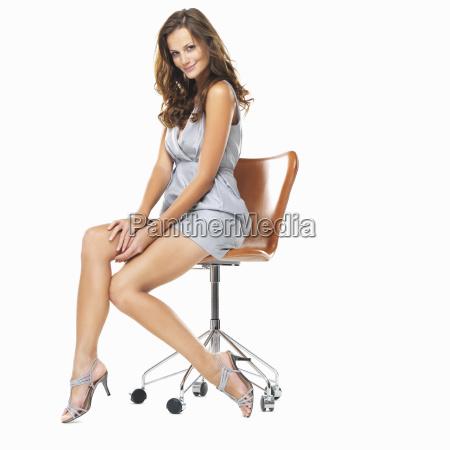 studio shot of young pretty woman