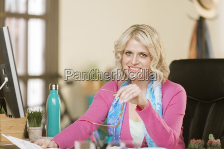 cheerful professional woman