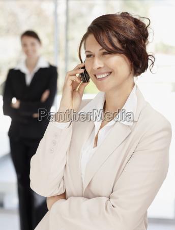 smiling businesswoman portrait