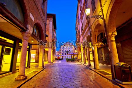 mantova city street evening view