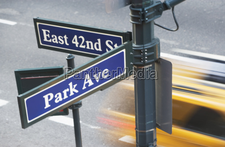 usa new york city manhattan strassenwegweiser