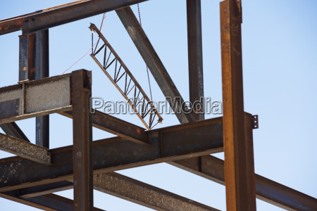 low angle view of steel beams
