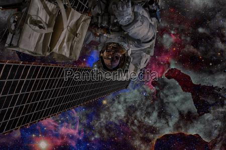 astronaut im weltraum weltraumspaziergang elemente dieses