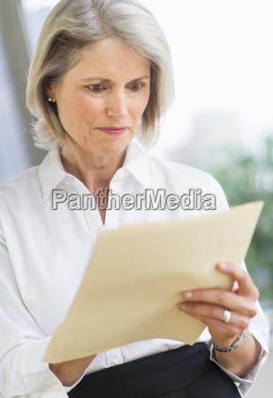 senior businesswoman working