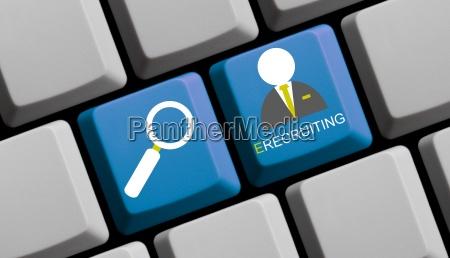 e recruiting suche nach personal