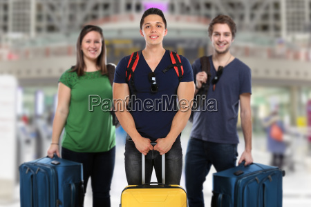 travel travel group of young people