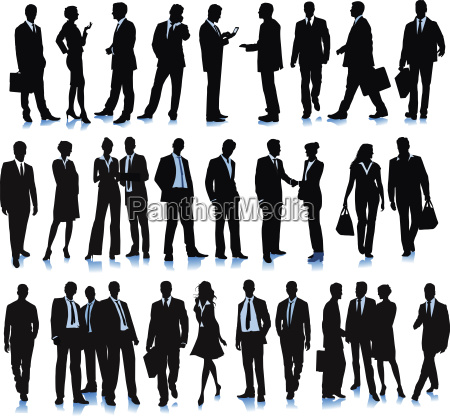 group of diverse business people illustration