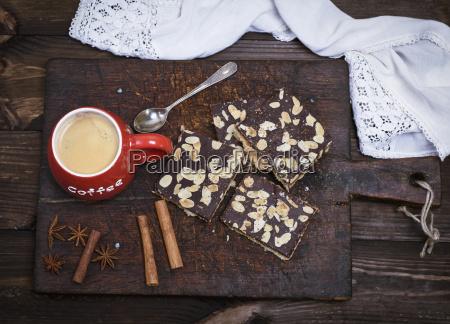 kaffee mit schaum stoffschaum in einem