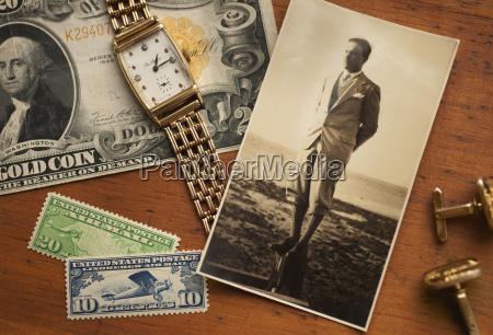 stilleben dollar dollars antik armbanduhr fotografin