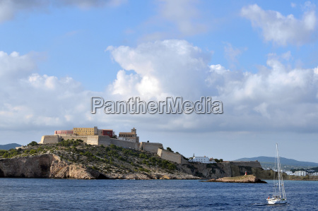 view from the sea to ibiza
