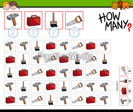 how many tools and objects counting