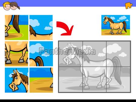 jigsaw puzzles with pony farm animal