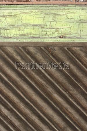 detail of a wooden door