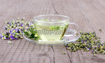 cup of tea with fresh and