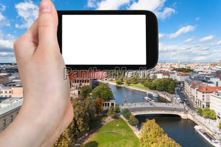touristenfotografien berliner stadtbild mit museen