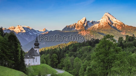 panoramablick auf die maria gern kirche