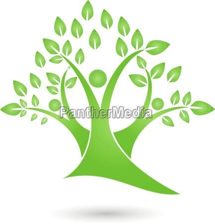 tree three persons people naturopaths logo