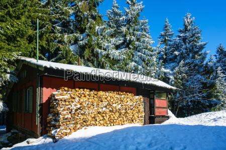 winter im riesengebirge bei benecko tschechien