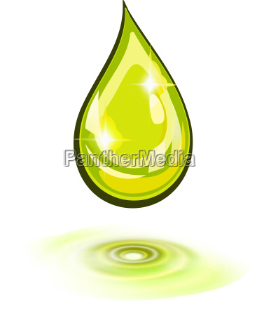 oil drop and ripples icon