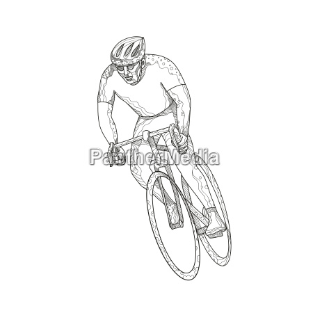 rennrad racing doodle