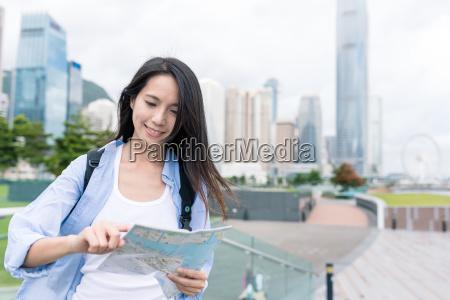 reisen frau besuchen hong kong und