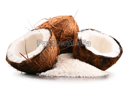 composition with shredded coconut and shells