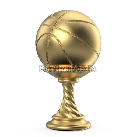 goldtrophaee tasse basketball 3d