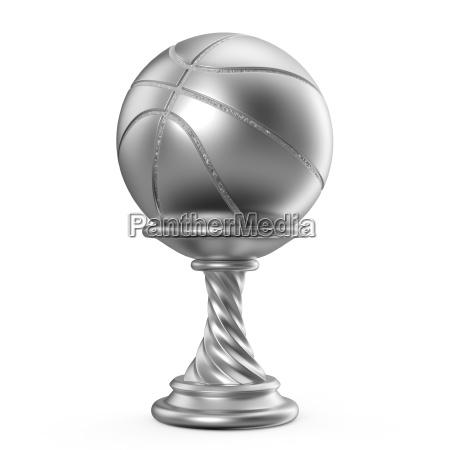 silbertrophaee tasse basketball 3d