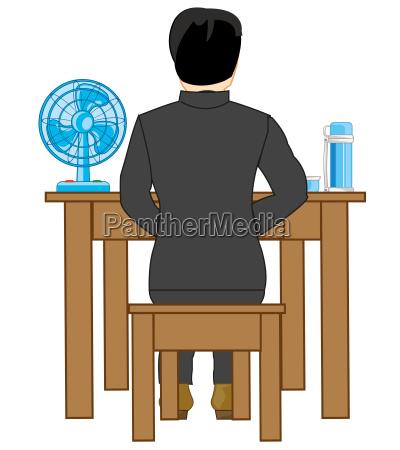 mann am tisch
