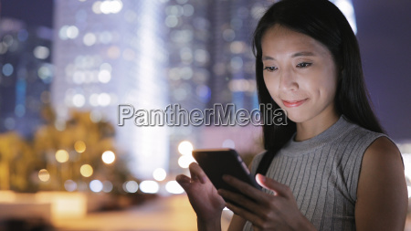 young woman use of smart phone