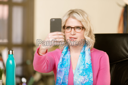 pretty woman with smart phone