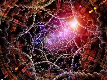 metaphorical radial fractal texture