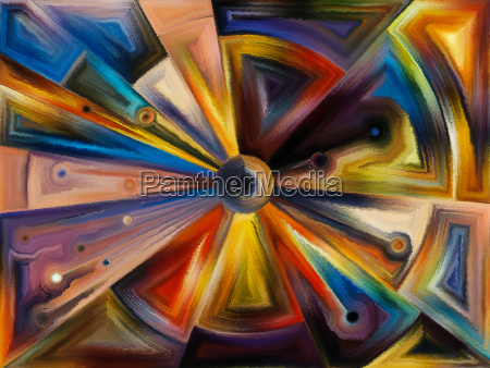 radial stained glass design
