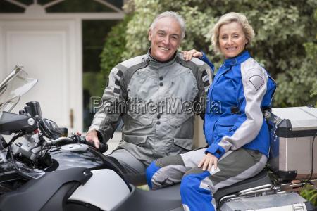 portrait of happy senior couple on