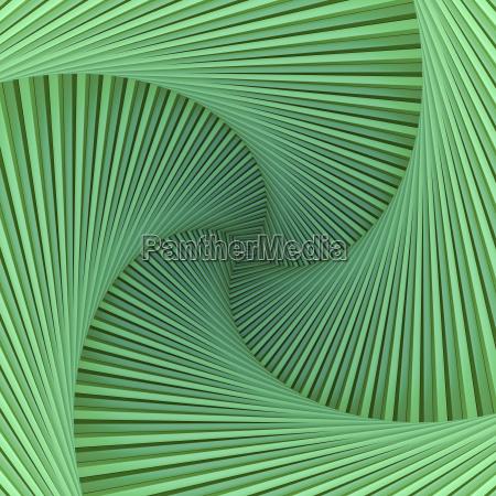gruene spirale mit quadratischer mitte