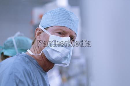 portrait of neurosurgeon in scrubs